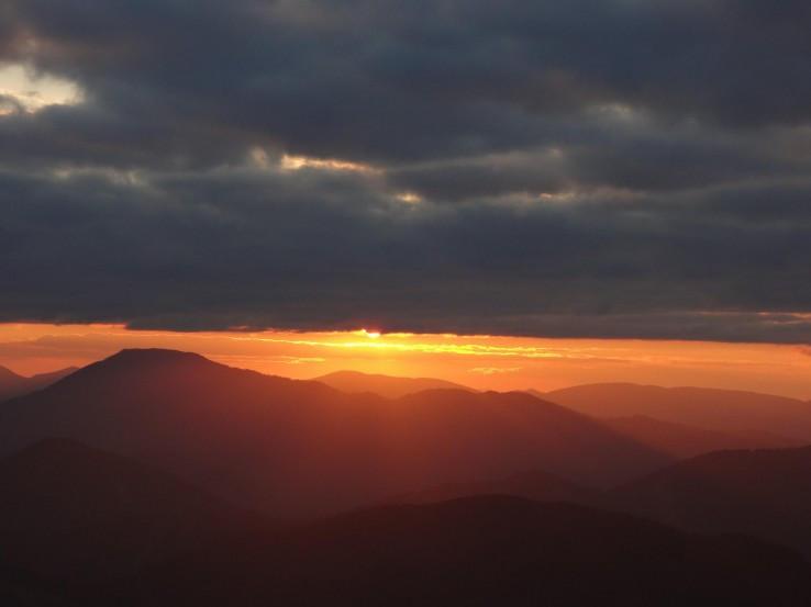 Západ Slunce na Siné