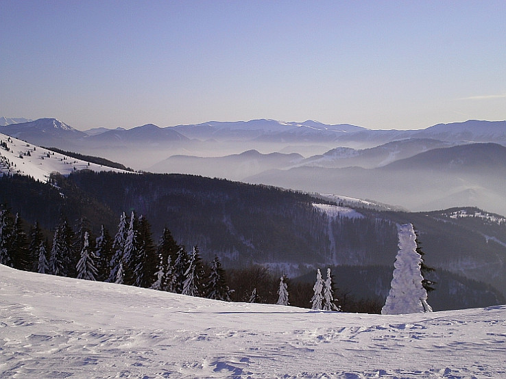 Nízke Tatry z hrebeňa Veľkej Fatry