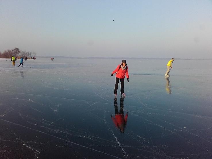 Korčuľovanie na Dunaji