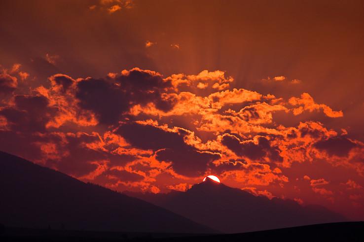 Vychod Slnka nad Krivanam