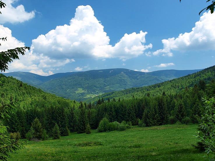Stolické vrchy od Prednej hory.