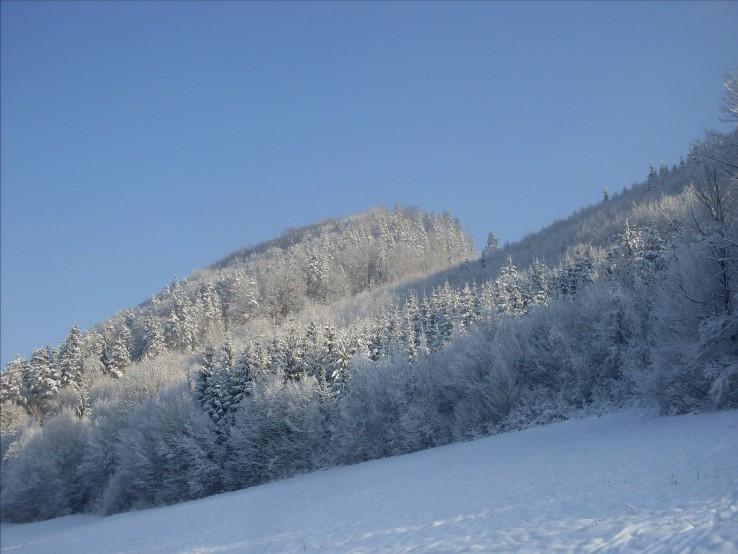 Hradište v zime