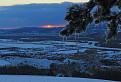 Beckovský hrad a západ slnka