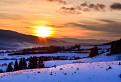 Západ slnka nad Poľanou