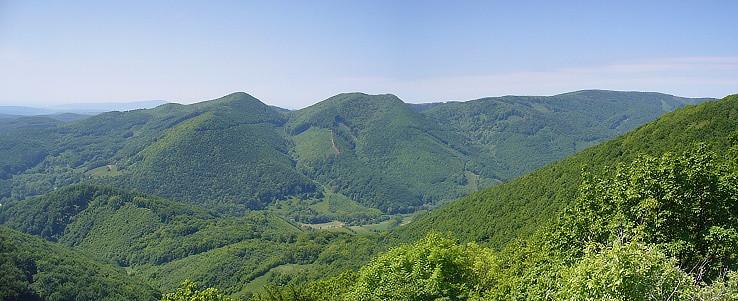 Výhľad zo Sokolieho kameňa