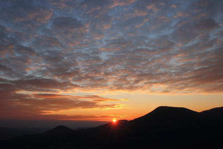 Západ slnka z Dúpnej skaly