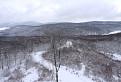 Zimný výhľad z rozhľadne Rovienky