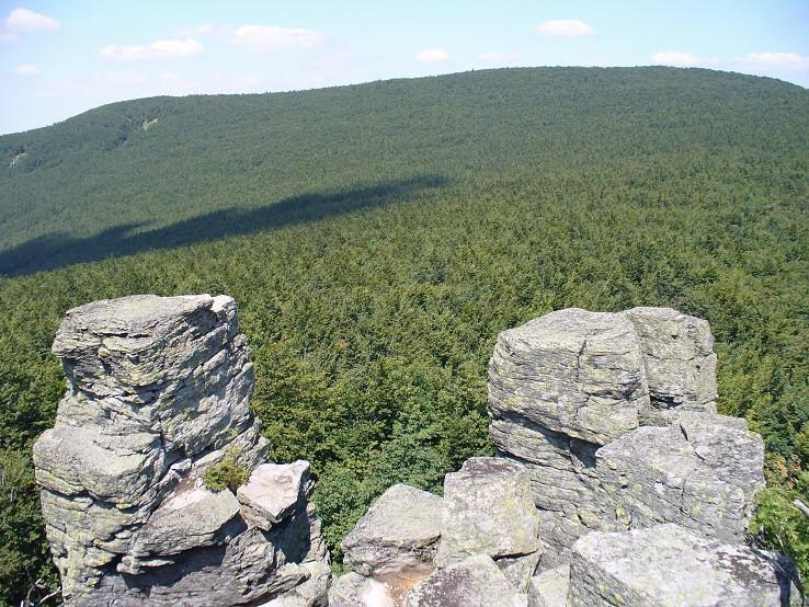 Pohľad z Kláštorskej skaly (1279 m)