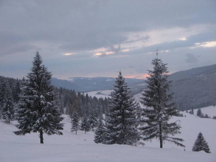Západ slnka na Besníku