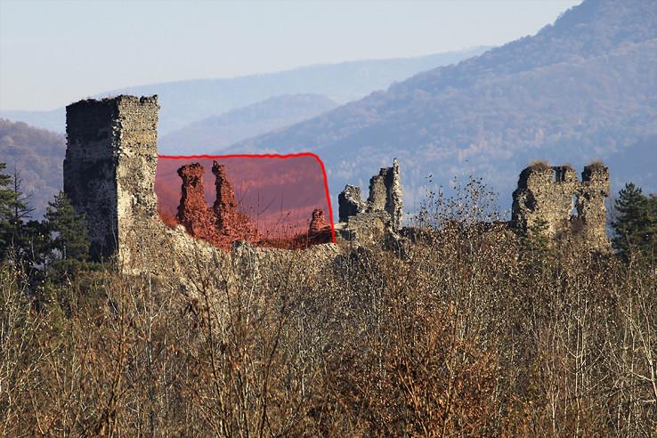 Hrad Revište - po páde múru