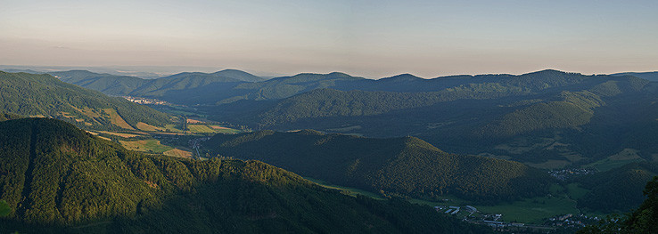 Podvečer nad Stolickými vrchmi.