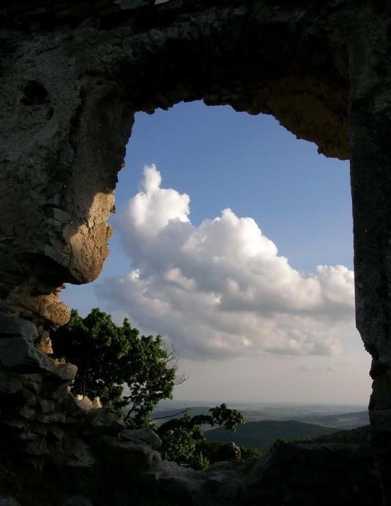 pohlad z hradu Gýmeš