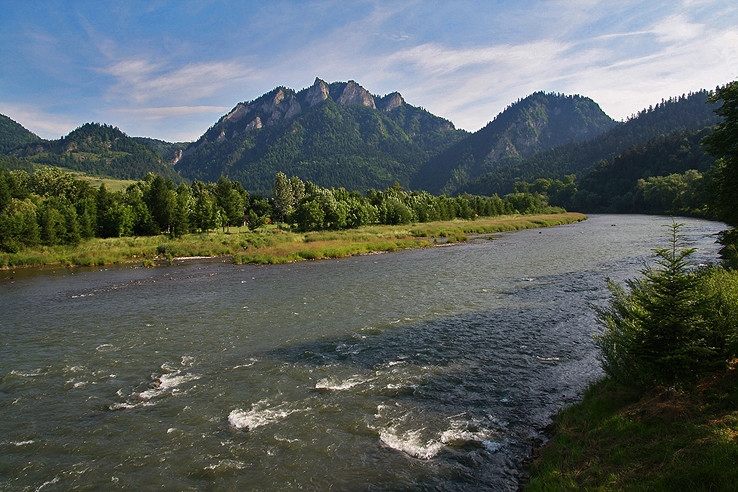 Dunajec, Tri Koruny a pozemský raj