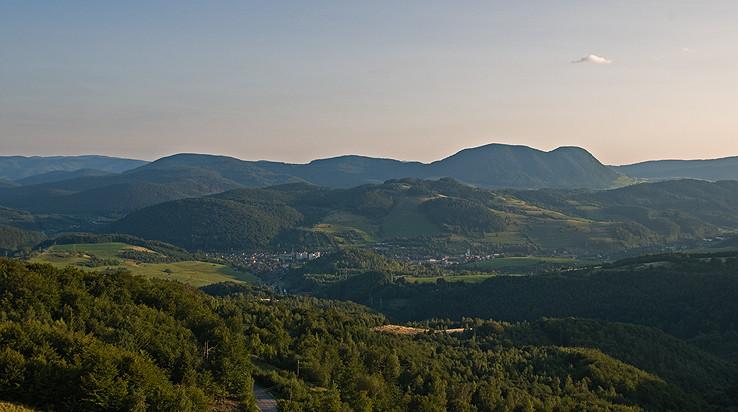 Podvečer nad Stolickými vrchy