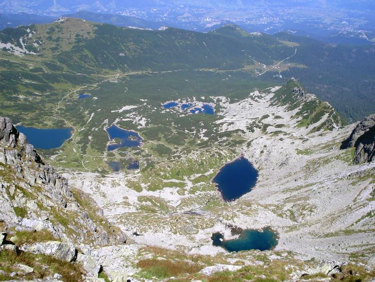 Pohľad zo Svinice smerom na Dolinu Gasienicowu