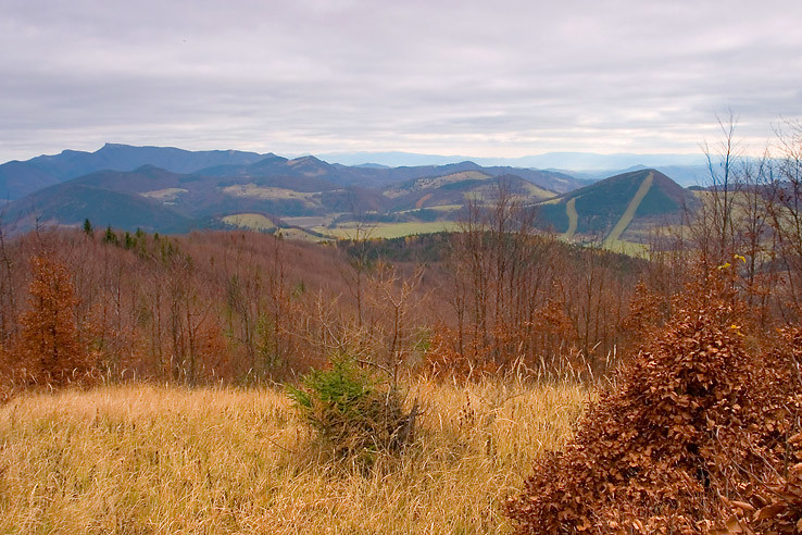 Výhľad z Čierneho vrchu