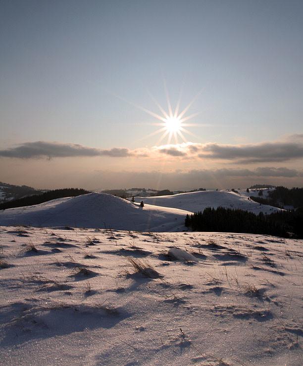Slnečno na hrebeni.