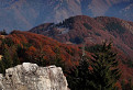 jesenný pohľad z hrebeňa Zvolena