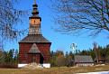 Drevený kostolík...