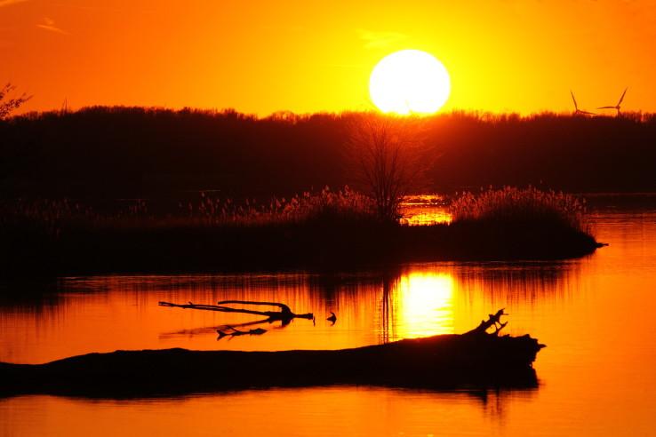 Západ slnka pri Dunaji
