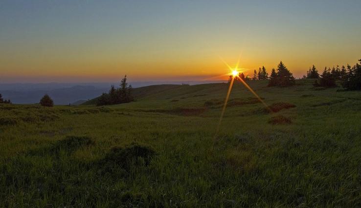 Západ slnka na Holiach