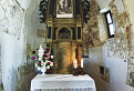 Interiér kostola v Pominovci