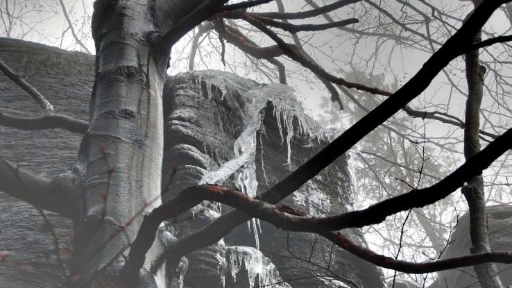 Sninský kameň v zime