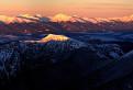 Panoráma Tatier pri západe slnka
