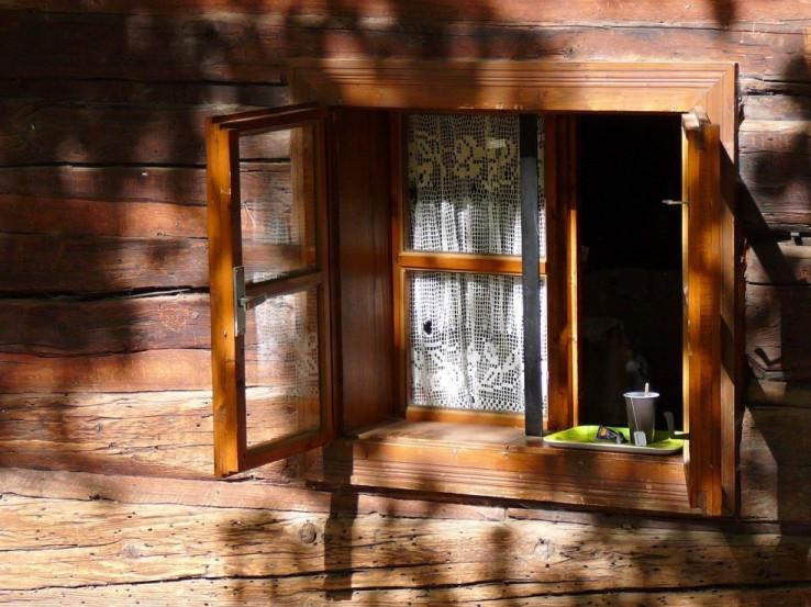 V okne...