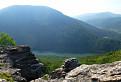 Výhľad zo skaly nad Ružínom