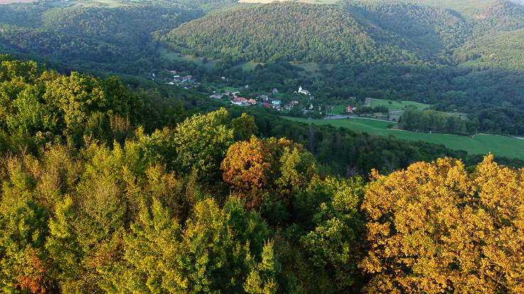 Pohľad na obec Opava