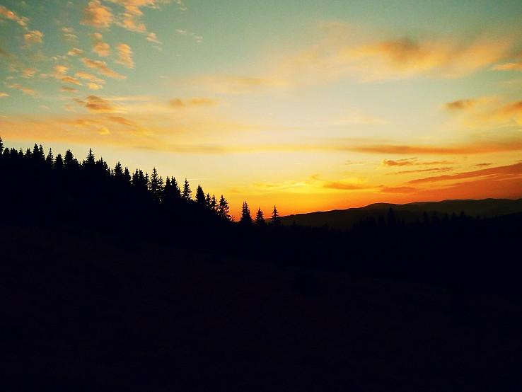 Zapad slnka nad Telgartom