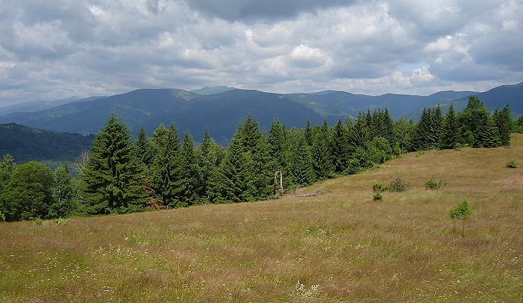 Rozľahlé stredoslovenské hory