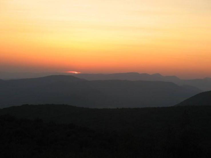 Večer na rozhľadni Čierna hora
