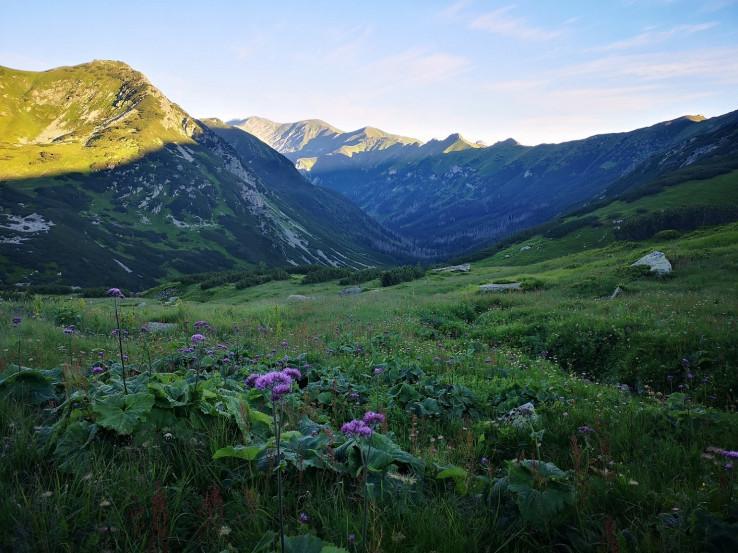 Skoré ráno nad Tichou dolinou