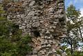 Muránsky hrad - Zachovalá časť obvodového múru